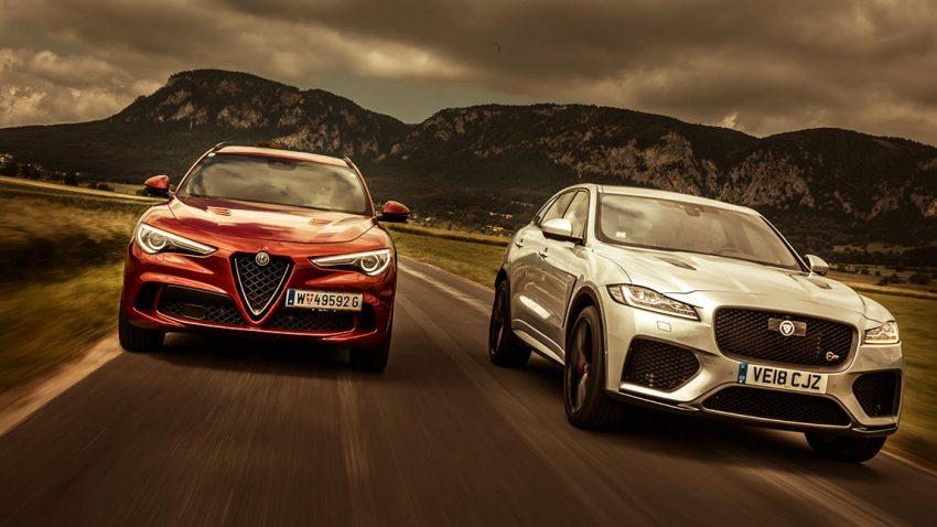 Vergleich Alfa Romeo Stelvio Quadrifoglio vs. Jaguar F-Pace SVR: Lassen Sie mich durch, ich bin arg!