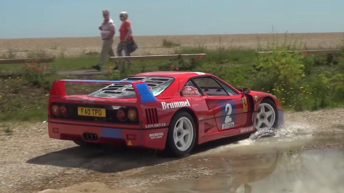 Ein Fest für die Ohren: Der Ferrari F40 GT
