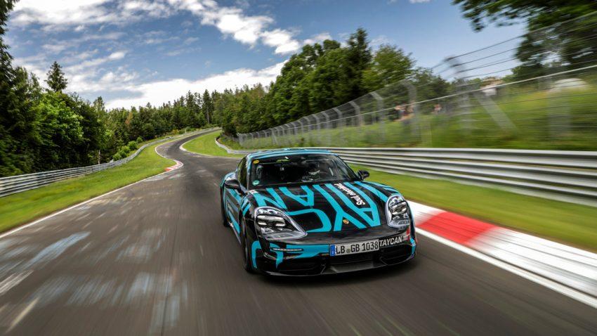 Porsche Taycan holt neuen Rekord am Nürburgring
