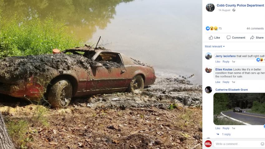 1989 gestohlener Pontiac Firebird am Grund eines Sees entdeckt