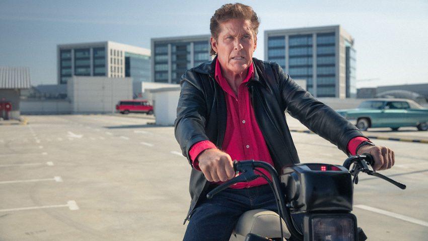 """David Hasselhoff als """"Moped Rider"""": K.I.T.T. ist jetzt ein ... Mofa"""