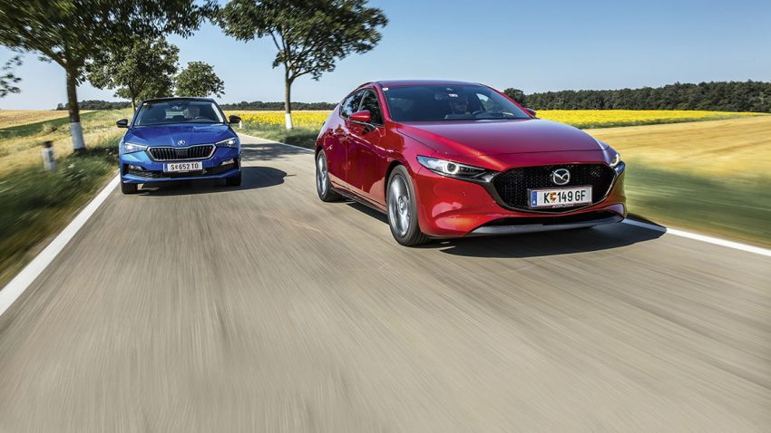 Vergleichstest Mazda 3 vs. Škoda Scala: Herr Kodo und Fräulein Clever