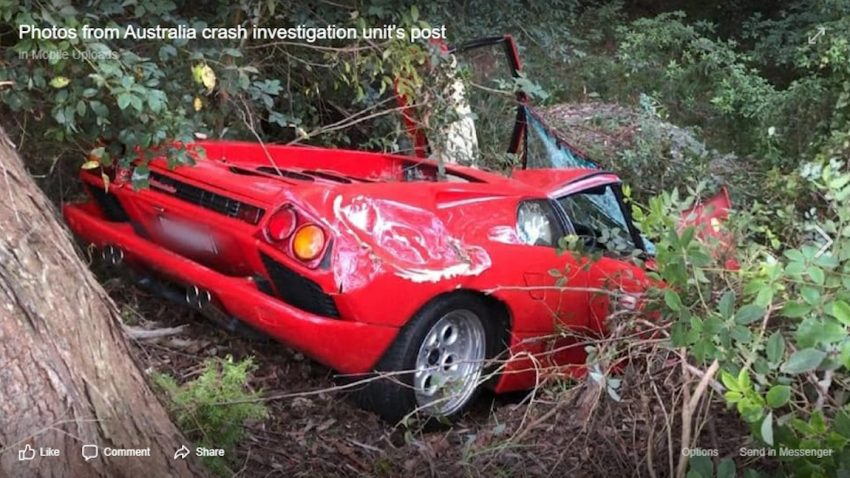 """Gerade erst gekauft"": Lamborghini Diablo-Crash in Australien"