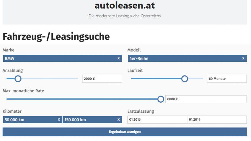 Leasingsuche leicht gemacht: Exklusive Kooperation mit autoleasen.at