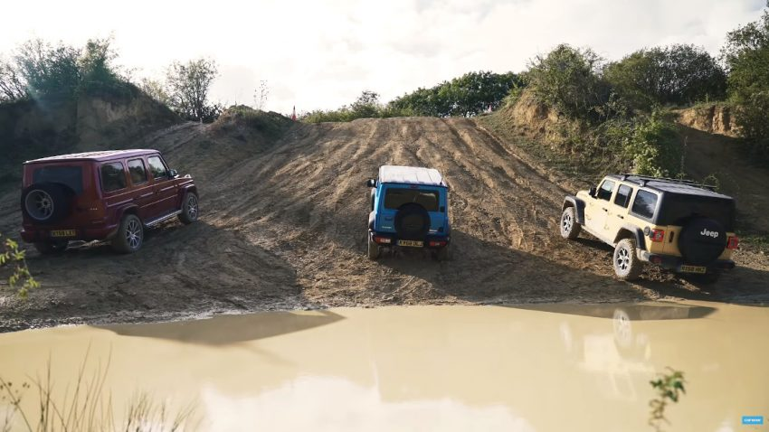 Offroad Showdown: Mercedes-AMG G63 vs. Jeep Wrangler vs. Suzuki Jimny