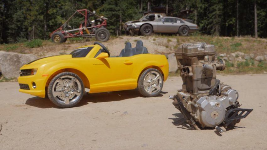 Kinder-Camaro mit ATV-Motor
