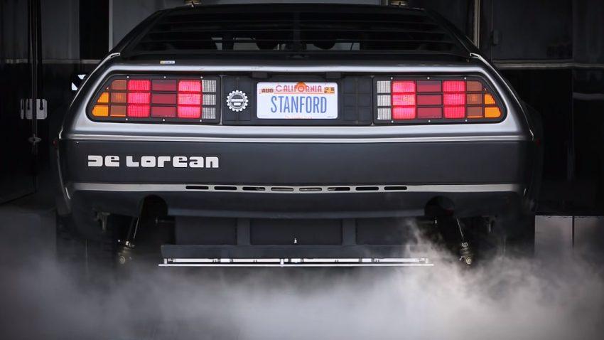 MARTY, der selbstdriftende, elektrische DeLorean