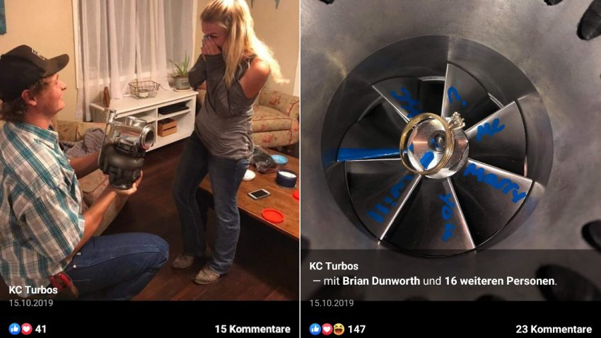 Heiratsantrag mit Turbo