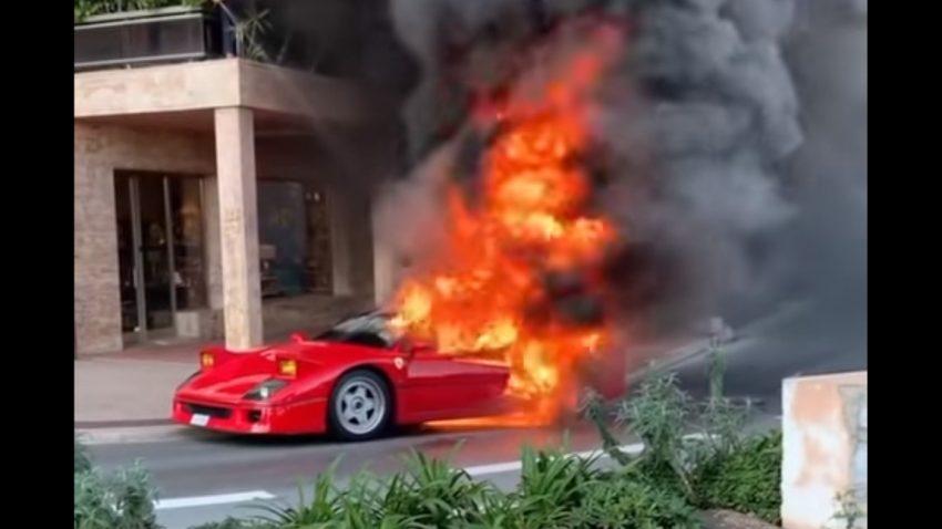 Ferrari F40 fing in Monaco Feuer [Update]