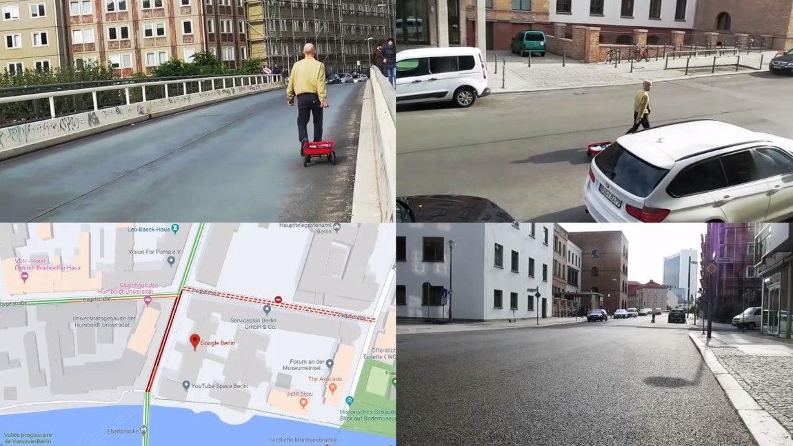 Wie dieser Berliner Künstler Google Maps einen Stau vorgaukelt