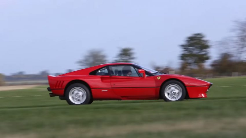 Bauernhof-Gymkhana mit dem Ferrari 288 GTO