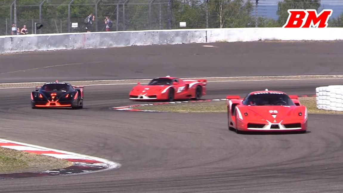 Ferrari FXX x 6: Sechsfacher V12-Sound am Nürburgring