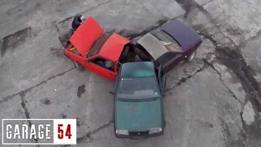 Diese Russen haben einen Fidget Spinner aus 3 Ladas gebaut