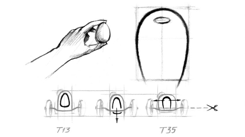 Bugattis Kühlergrill: Hufeisen oder Ei?