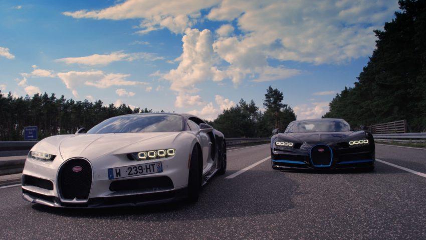 Kamerafahrt mit 400 km/h: Wie ein Bugatti Chiron einen Bugatti Chiron filmt