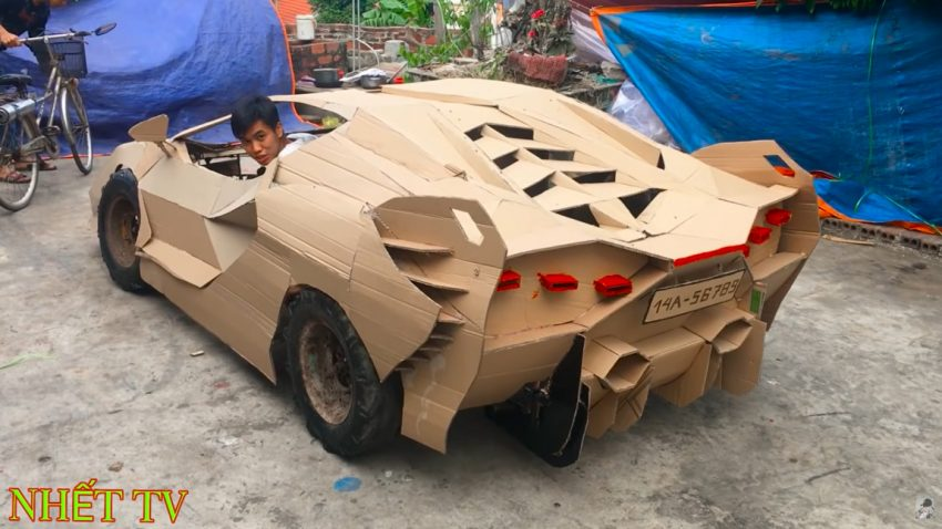 Bugatti Karton & Papporghini Sián