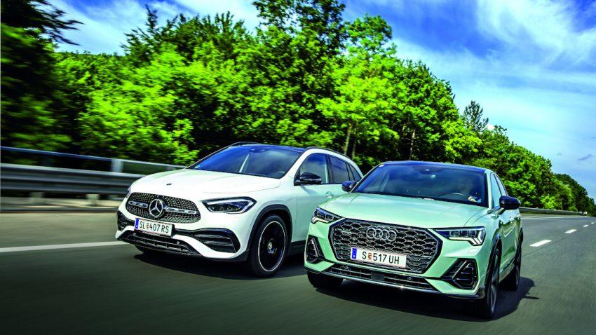 Mercedes GLA vs. Audi Q3 Sportback: Kopf an Kopf gesellt sich gern