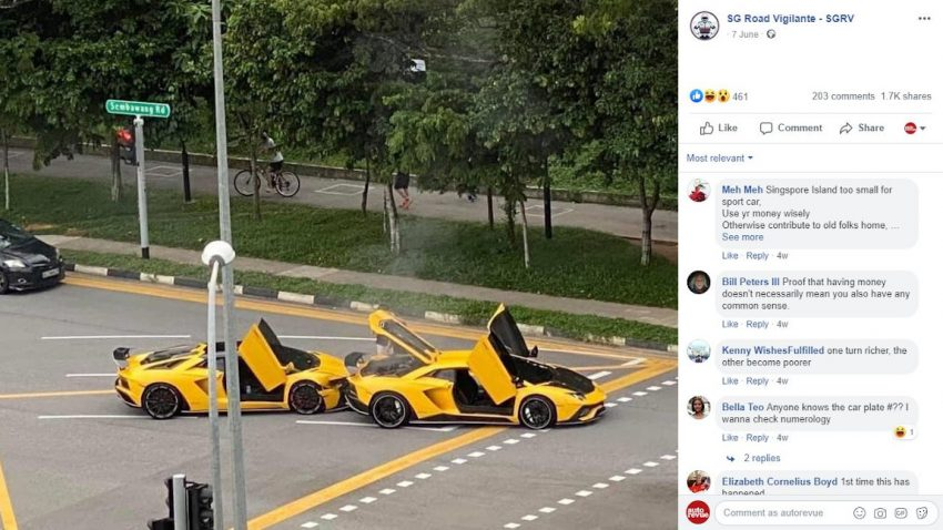Lamborghini Aventador S kollidiert mit Doppelgänger