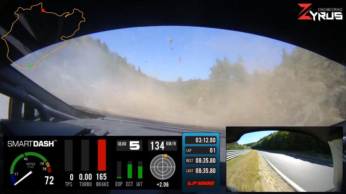 Reifenplatzer im 1.200-PS-Lamborghini – bei 210 km/h auf der Nordschleife