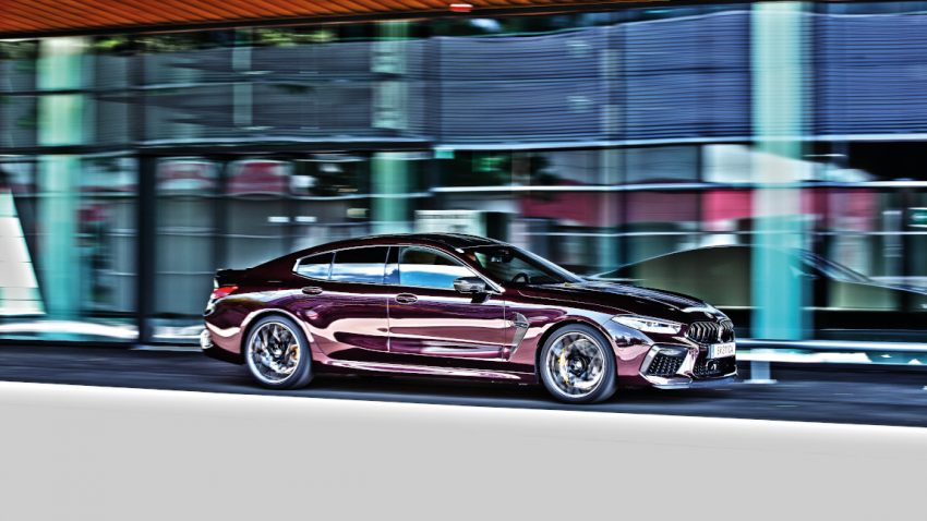 BMW M8 Gran Coupé: Voll auf Ametrin