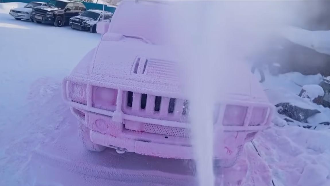 Autowäsche bei minus 40 Grad Celsius