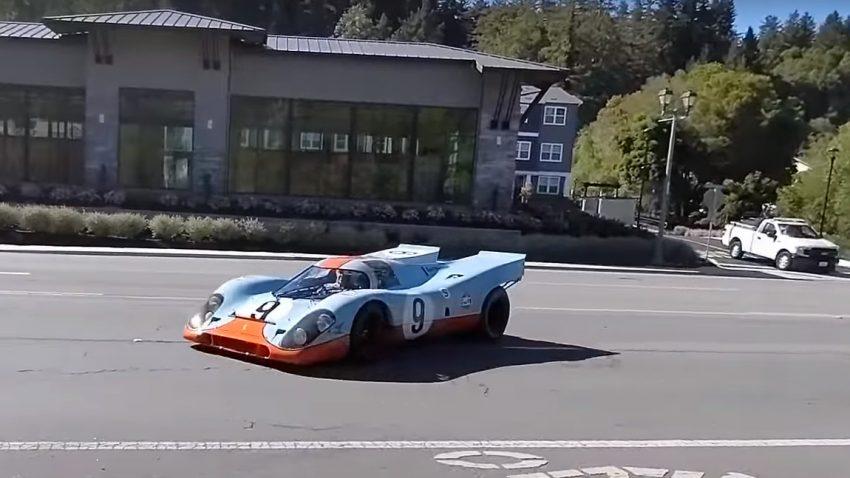 Porsche 917K on the road