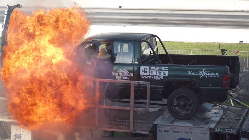 Schon wieder: 3.000-PS-Diesel-Truck am Prüfstand explodiert