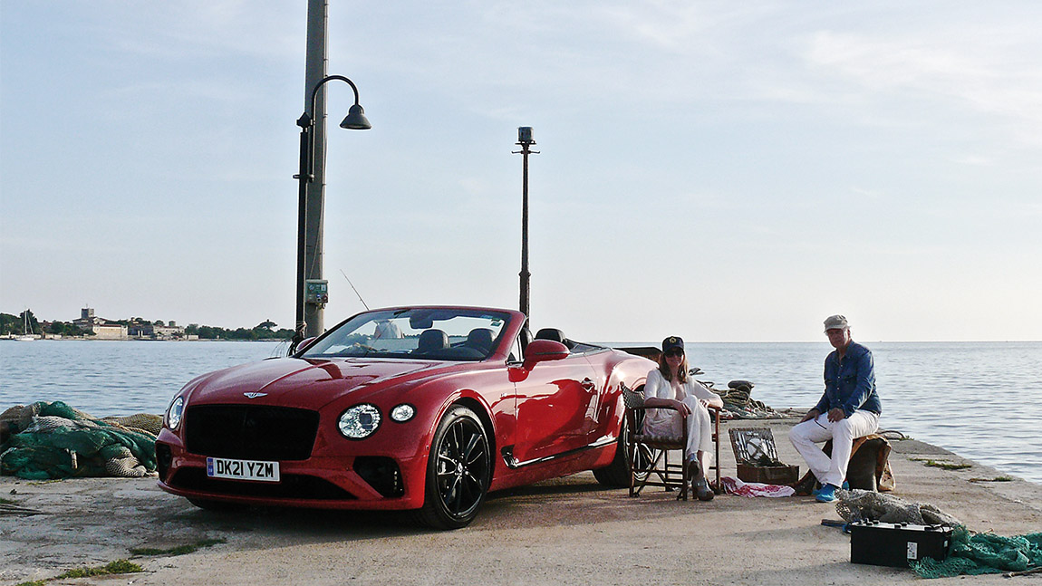 Seestück mit Bentley